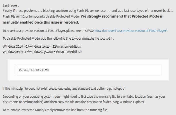 Solusi Flash yang crash di Firefox