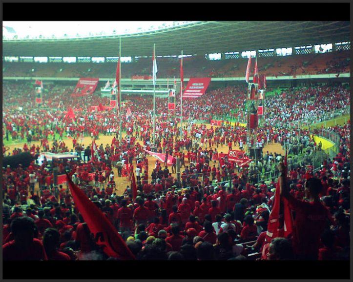Kampanye PDIP 2009 di Stadion Gelora Bung Karno