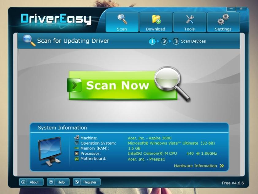 Driver Easy mempermudah memasang driver