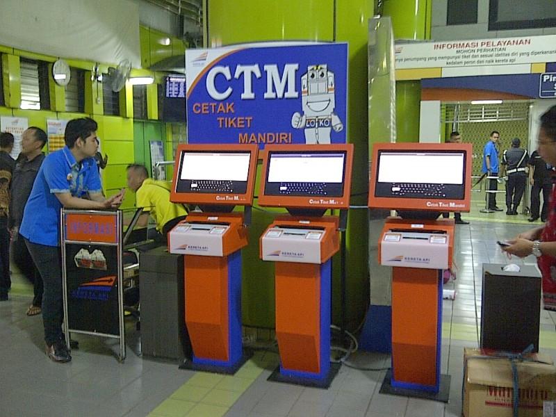 Tampilan mesin Cetak Tiket Mandiri (CTM)