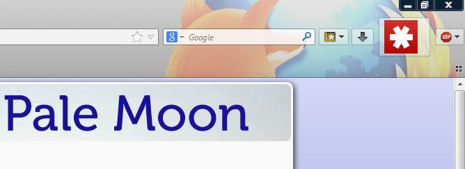Icon Lastpass lebih besar dibanding icon-icon lainnya.